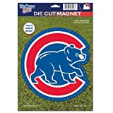MLB Chicago Cubs 82794010 Die Cut Logo Magnet, Small, Black