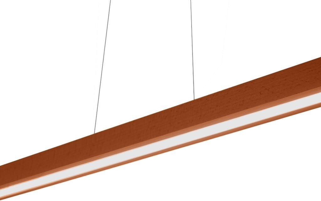 Lampe Pendelleuchte LED H/ängeleuchte HausLeuchten LED120KB-BUCHE aus Massivholz 120cm // 1998lm // 6 Varianten Leuchte BUCHE Deckenlampe,Deckenleuchte