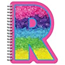"iscream Letter R Shaped Spiral-Bound Lined-Page 6.5"" Initial Notebook"