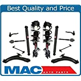 For 08-12 Nissan Rogue Front Coil Spring Struts Rear Shocks Control Arms Ball Tie Rods 12Pc
