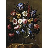 The polyster Canvas of oil painting 'Arellano Juan de Florero de cristal 1668 ' ,size: 10 x 13 inch / 25 x 34 cm ,this Cheap but High quality Art Decorative Art Decorative Canvas Prints is fit for Living Room artwork and Home decoration and Gifts
