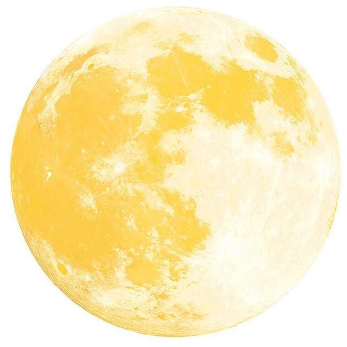 YWLINK 30cm Etiqueta Engomada De La Pared Fluorescente De La Luna Grande 3D Resplandor Desprendible En La Etiqueta Engomada Oscura: Amazon.es: Hogar