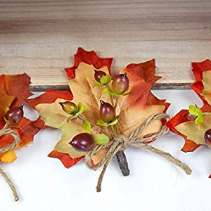 4 pcs Berries Boutonnieres with Fall Leaves - Wedding Flowers by BalsaCircle 2