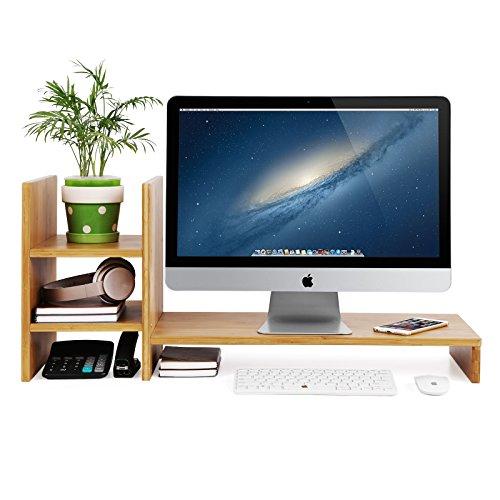 SONGMICS Monitor Stand Desktop Organizer