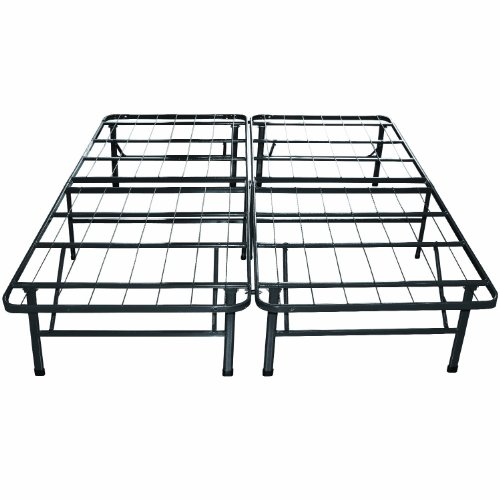 amazoncom classic brands hercules heavy duty 14 inch platform metal bed frame mattress foundation queen kitchen dining - Metal Bed Frames