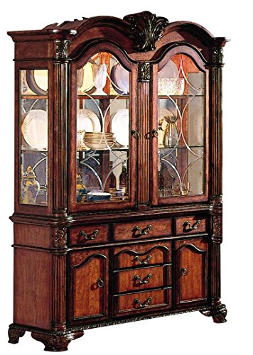 Buffet Curio (Chateau De Ville Buffet and Hutch in Cherry Finish by Acme - 4079)