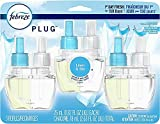 Odor-Eliminating Plug Air Freshener Refills, Linen & Sky, 3 Count !#0 Linen & Sky Plugs - 3 Count