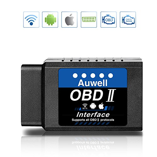 AUWELL Car Code Reader, WiFi OBD2 Scanner Wireless Scan Tool Automotive Check Engine Diagnostic Tool for iOS & Android Support All OBDII Protocols