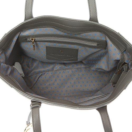 Pelle dettagli Saffiano Mano Stampa Grigio 37x29x17 75B700SSM Ampi in con Manici con Jeans Cm in a Donna – Eco Trussardi Borsa Mod da txwOfqpaP