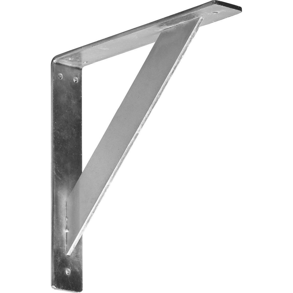 Steel 6-Pack Ekena Millwork BKTM02X12X12TRCRS-CASE-6 2 W D x 12 H Traditional Bracket Piece