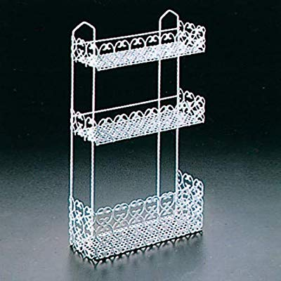 Metaltex Florenz Rectangular Bathroom Shelf 3-Tier White