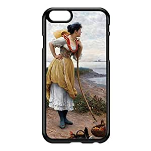 Daydreaming by Eugene de Blaas Black Hard Plastic Case for iPhone 6 by Painting Masterpieces + FREE Crystal Clear Screen Protector