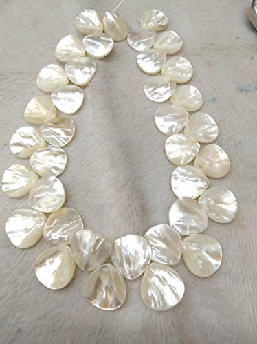 large 16mm White Pearl Shell jewelry teardrop drop White Mother of Pearl shell Beads Full strand -