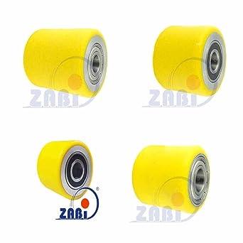 Ruedas ZAB-S de poliuretano y aluminio para carritos, ruedas de ...