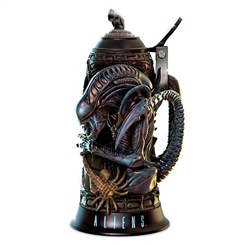 Aliens Four Stages of Fear Collectible Stein with Chest Burster Xenomorph Topper by The Bradford Exchange