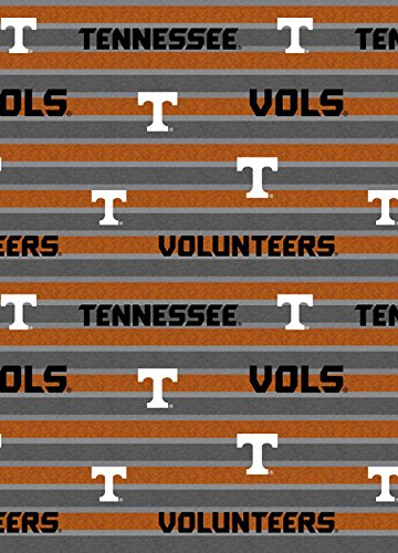 UNIVERSITY OF TENNESSEE COTTON FABRIC-TENNESSEE VOLUNTEERS POLO STRIPE COTTON FABRIC-NEWEST DESIGN-SOLD BY THE YARD