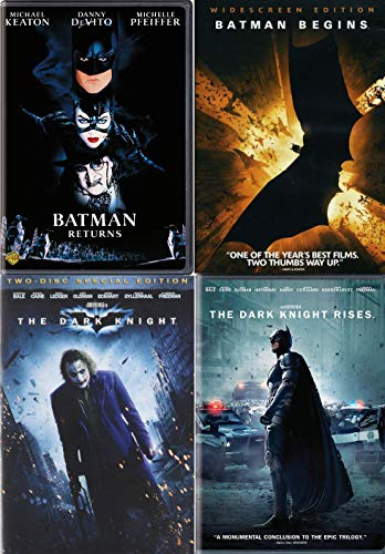 The Christopher Nolan / Tim Burton Batman Collection - Batman Returns, Begins, The Dark Knight (Two-Disc Special Edition) & The Dark Knight Rises 5-DVD Bundle