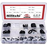 Hilitchi 420-Pcs [9 - SIZE] White/Black Nylon Insulating Flat Washers Gaskets Spacers Assortment Set - M2 M2.5 M3 M4 M5 M6 M8 M10 M12