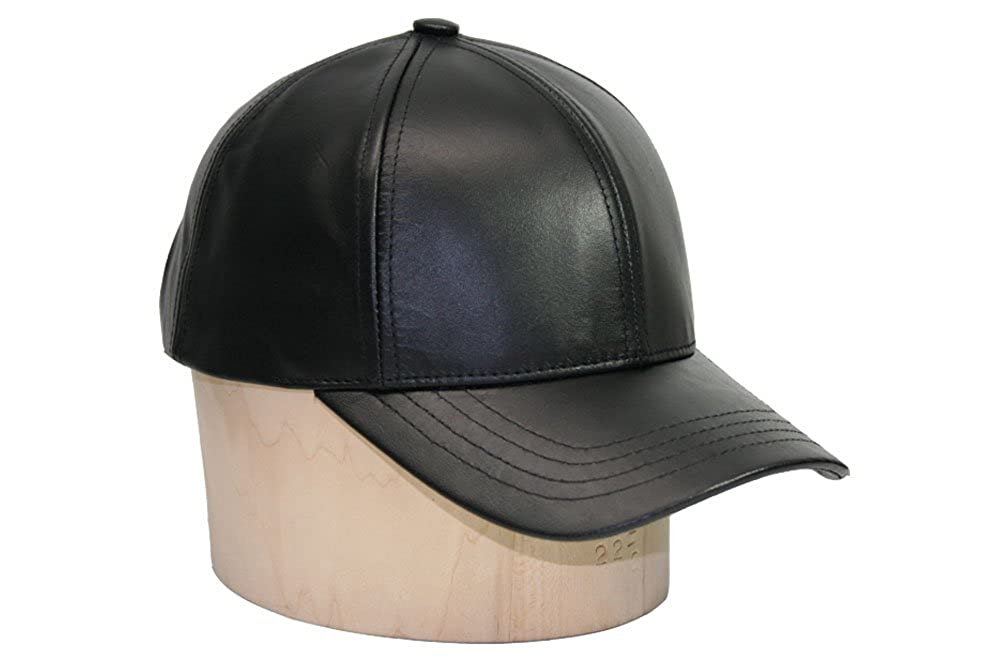 Emstate Genuine Cowhide Leather Adjustable Baseball Cap Made in USA BBC-LT1