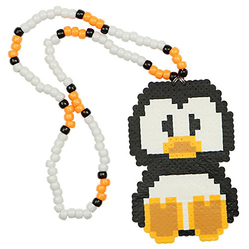 Penguin Kandi Necklace, Rave Perler Necklace, Beaded Necklaces