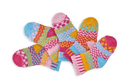 Solmate Socks, Mismatched Baby socks for girls or boys, Cuddle Bug Medium