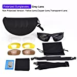 XAegis Tactical Polarized Glasses, Sport Sunglasses with 4 Interchangeable Lenses for Cycling Fishing Shooting Hiking - Military Goggles Includes a Hard Shell Case