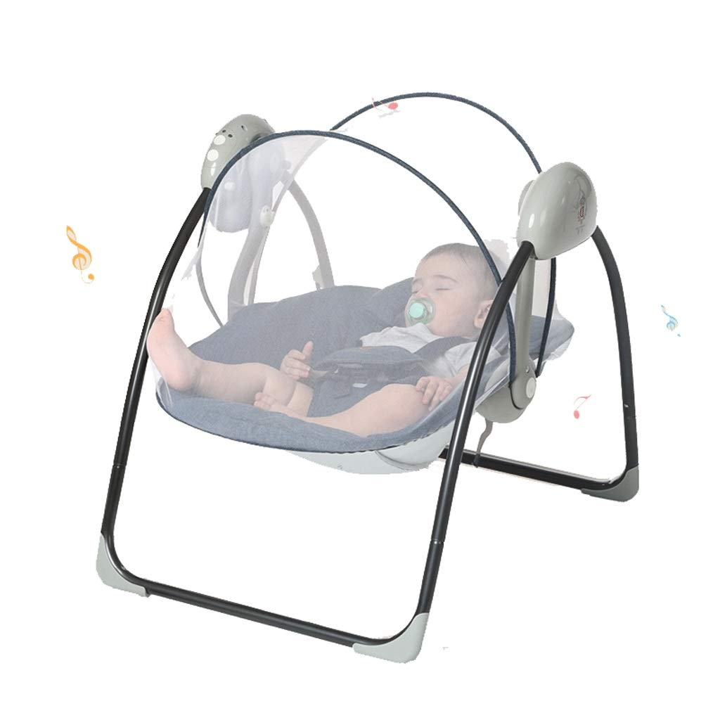 32b6f6efe15852 赤ちゃん電気ロッキングチェアベビーベッド旅行ベビーベッド蚊帳玩具音楽折りたたみベビーベッド眠