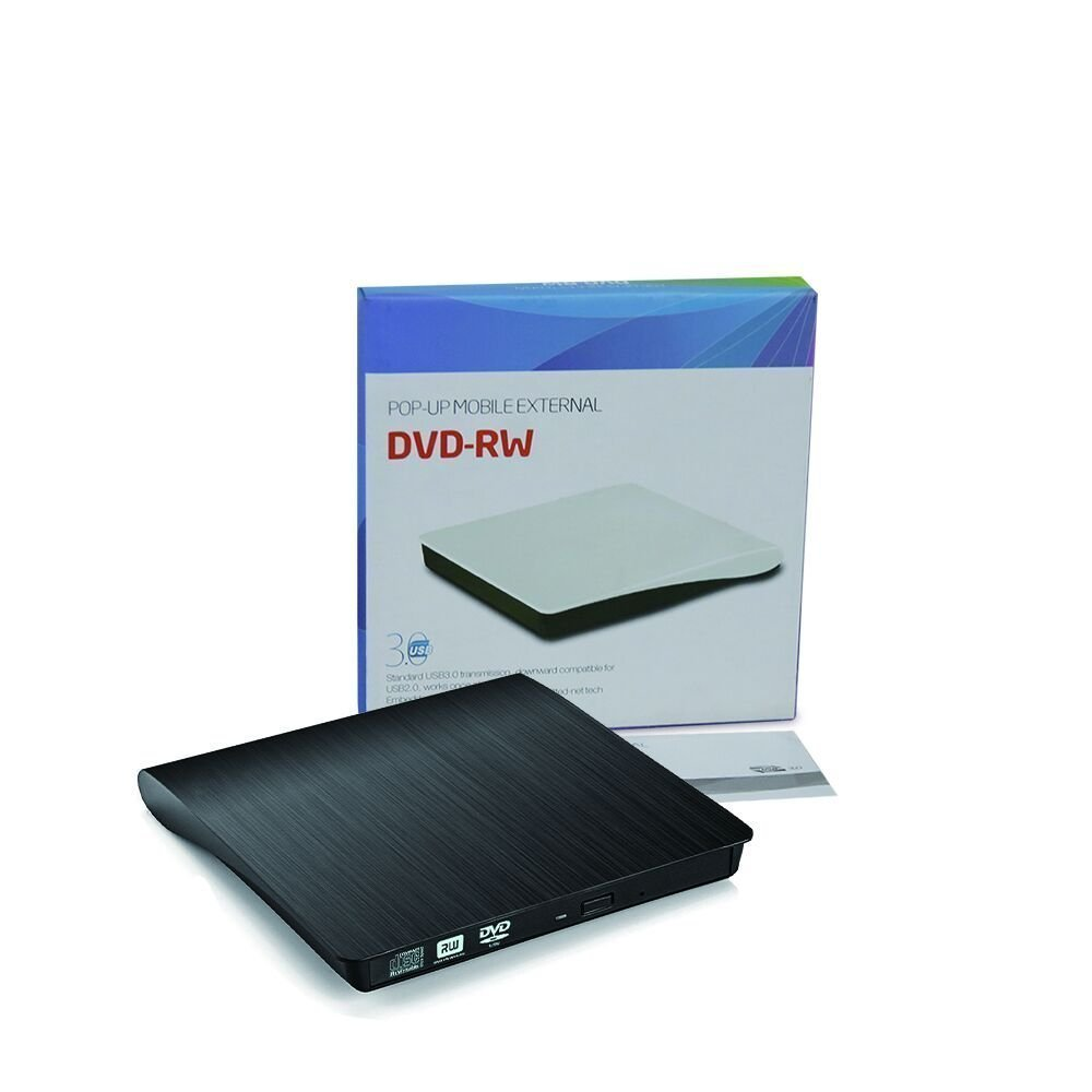 External DVD Drive, USB 3.0 Portable DVD Burner, Super Slim External Optical Drive, CD/DVD-RW Writer for Macbook Pro Laptop/Desktops Win 7/8.1/10 and Linux OS