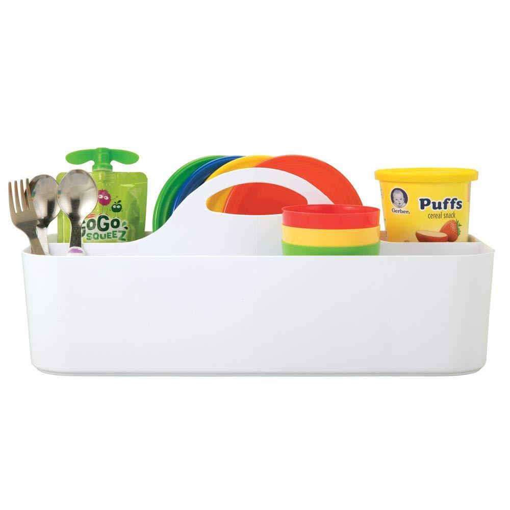 praktischer Tragekorb f/ür Creme Babynahrung usw mintgr/ün mDesign 2er-Set Caddy mit 11 F/ächern f/ür Babysachen Thermometer Spielsachen Aufbewahrungsbeh/älter mit Griff aus Kunststoff