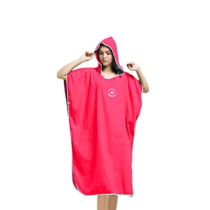 Image Unavailable. Image not available for. Color  Hiturbo Microfiber Surf  Beach Wetsuit Changing Towel Bath Robe Poncho with Hood ... c9fb880d8