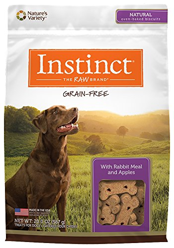 Instinct Grain Free with Rabbit Meal & Apples Natural Oven-Baked Biscuit Dog Treats by Nature