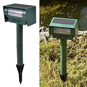 Green, Solar Power Ultrasonic Pest Animal Repeller Repellent Sensor Detection Garden
