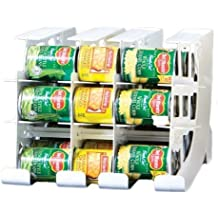 FIFO Can Tracker- Food Storage Canned Foods Organizer/Rotater/Dispenser: Kitchen, Cupboard, Cabinet, Pantry- Rotate Up To 54 Cans - Made in USA