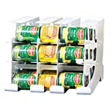 can shelf organizer - FIFO Can Tracker- Food Storage Canned Foods Organizer/Rotater/Dispenser: Kitchen, Cupboard, Cabinet, Pantry- Rotate Up To 54 Cans - Made in USA
