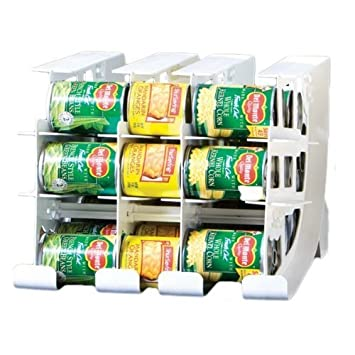 Amazing FIFO Can Tracker  Food Storage Canned Foods Organizer/Rotater/Dispenser:  Kitchen,