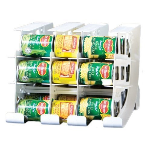FIFO Can Tracker- Food Storage Canned Foods Organizer/Rotater/Dispenser: Kitchen, Cupboard, Cabinet, Pantry- Rotate Up To 54 Cans - Made in USA (Canned Food Storage Rack)