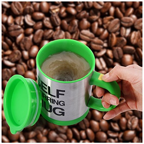 Interbusiness 380ml Automatic Stirring Mixing Tea Coffee Cup Mugs Lazy Self Stirring Mug (Green) by BBstep