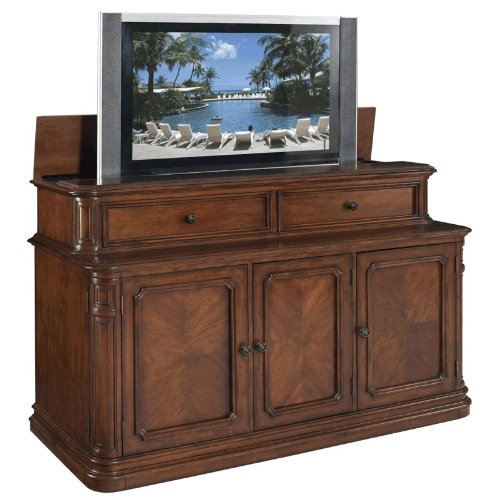 TV Lift Cabinet Extra Large for 40-62 inch Flat Screens (Stained) AT005253 by TVLiftCabinet, Inc