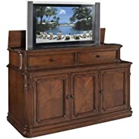 TV Lift Cabinet Extra Large for 40-62 inch Flat Screens (Stained) AT005253