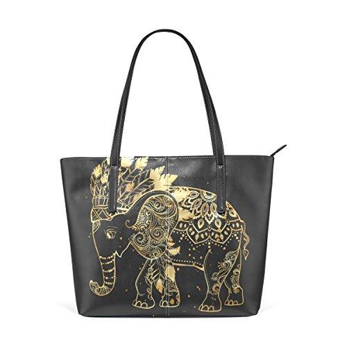 Multicolor1 Bolsos Hombro Mango De Bolsa Elefante Mujer Deyya Asas Wo Top Impresión panPgt