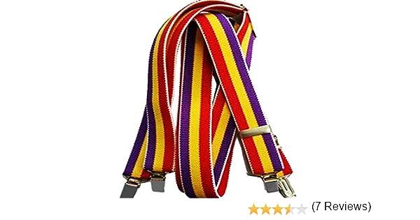 RK Tirantes Bandera de España Republicana, Elasticos: Amazon.es: Ropa y accesorios