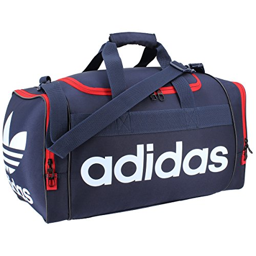 Adidas Collegiate Duffel - adidas Originals Santiago Duffel Bag, Collegiate Navy/Scarlet/White, One Size
