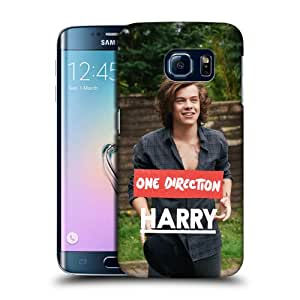 Official One Direction 1D Button Down Harry Styles Photo Hard Back Case Cover for Galaxy S6 edge G925