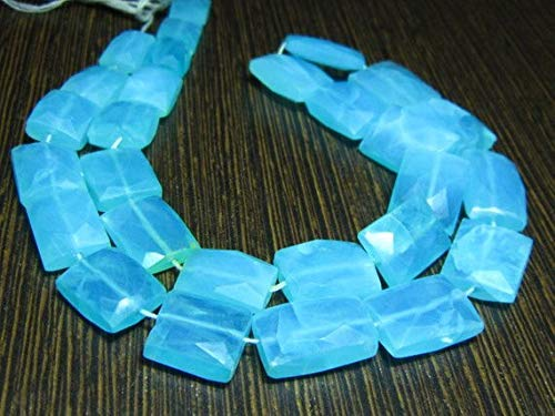 AA-Blue Opal Faceted Flat Chiclet Briolettes- 7