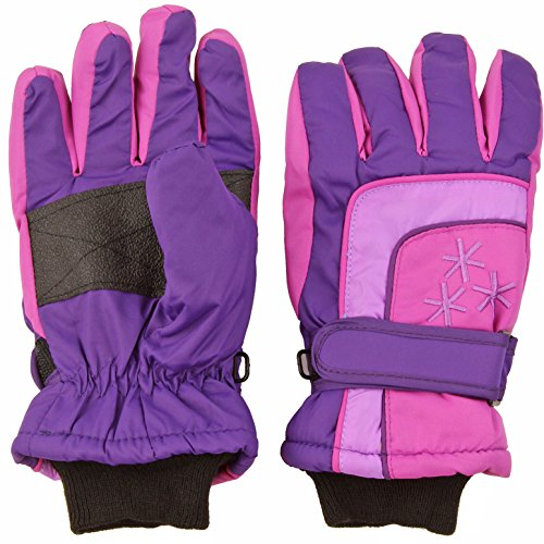 Insulated Winter Cold Weather Ski Gloves for Kids (Boys and Girls) Waterproof Windproof (Small, Purple) (Winter Gloves Girls)