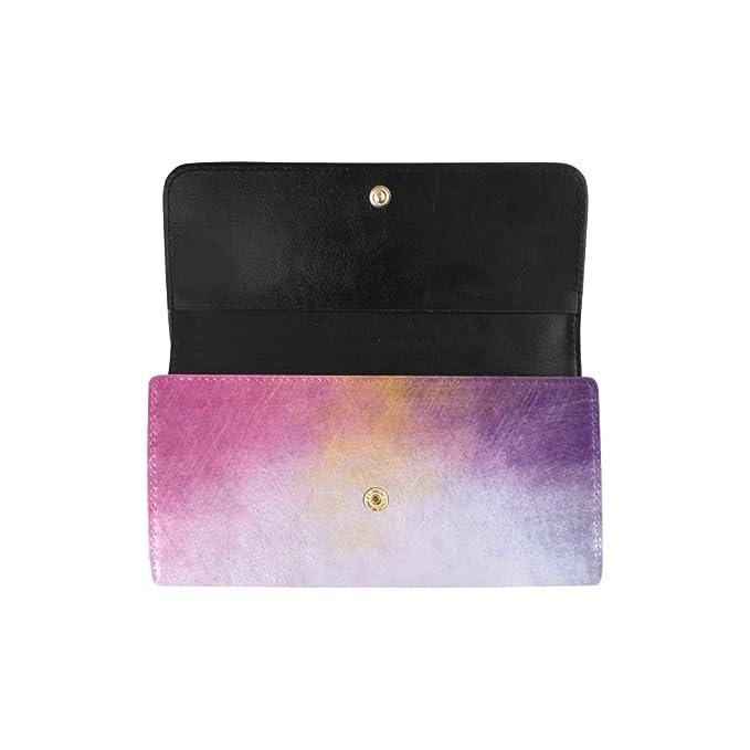 Amazon.com: Monedero largo con diseño de arco iris vintage ...