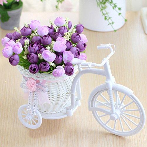 takefuns jardín nostálgico soporte de flor artificial decoración planta de bicicletas Mini jardín para el hogar...