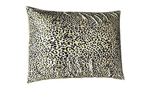 Shop Bedding Sweet Dreams Luxury Satin Pillowcase with Zipper, Standard Size, Jaguar Print (Silky Satin Pillow Case for Hair)