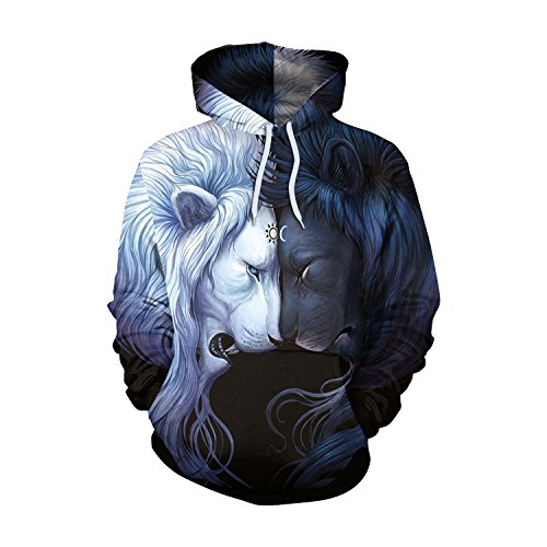 XMNDS Clearance Women Hoodies Simulation 3D Alpaca Print Hoodies Pullovers Sweatshirt