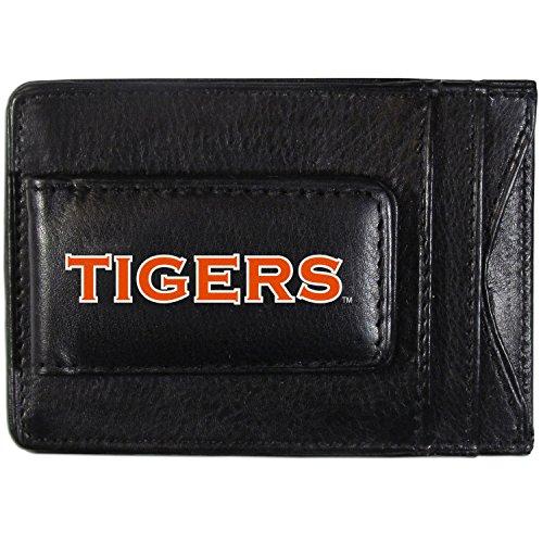 Siskiyou NCAA Auburn Tigers Logo Leather Cash Cardholder, Black ()